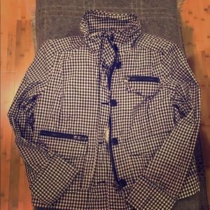 J Crew Gingham Lightweight Jacket